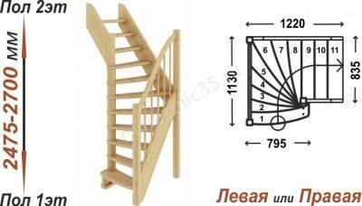 Винтовая лестница 90 градусов